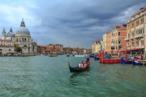 Santa Maria della Salute in the skyline of Venice