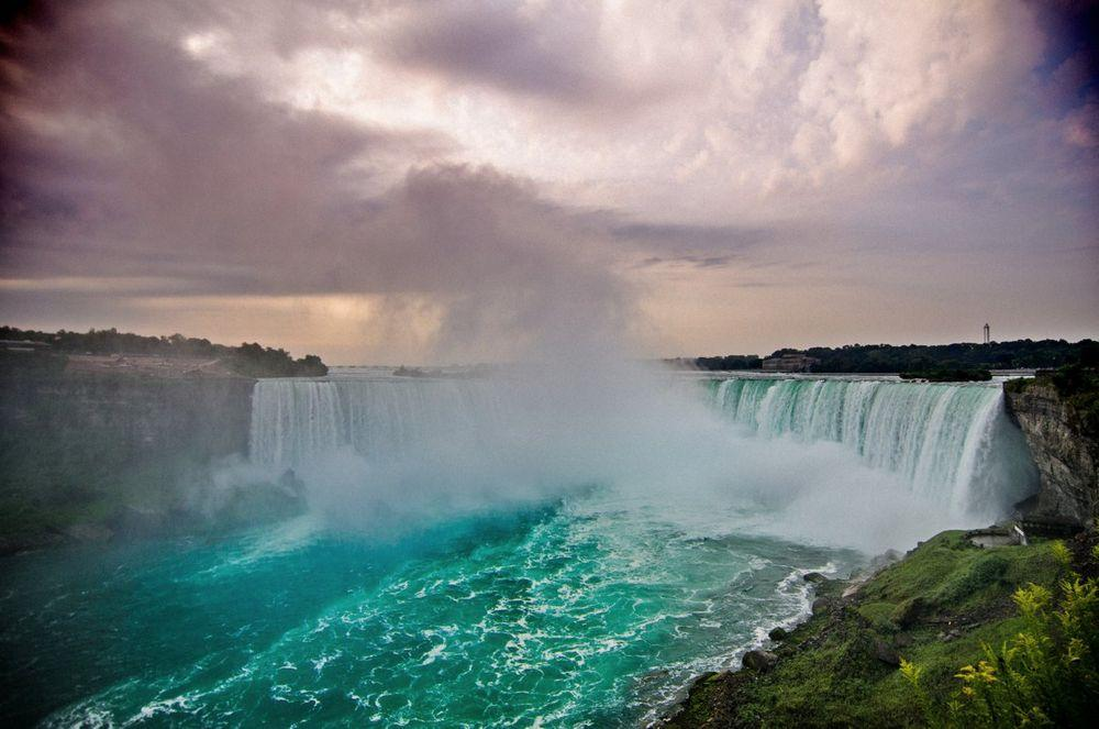 Horseshoe Falls in the evening, Niagara