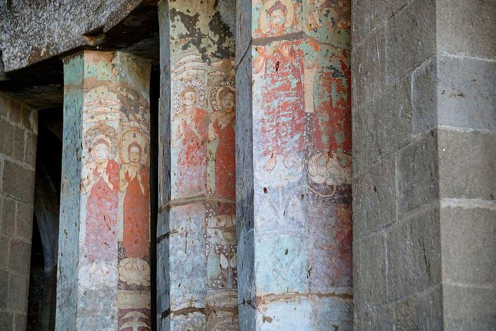 Paintings in Pitalkhora caves, Cave No.3.