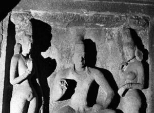Simhavishnu relief in Adivaraha Temple