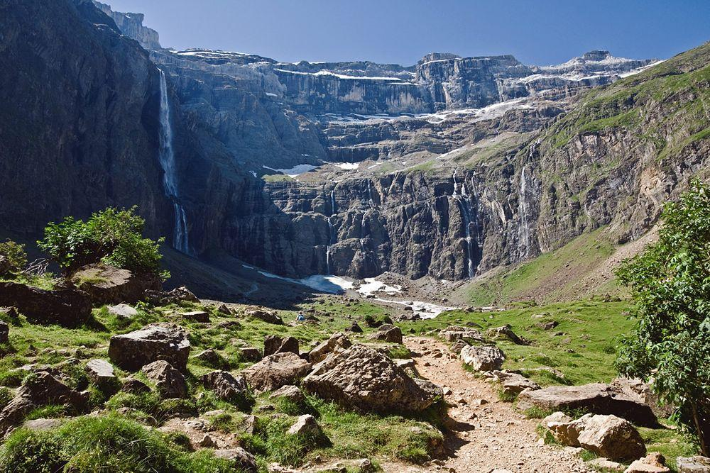 Gavarnie Cirque and falls, France