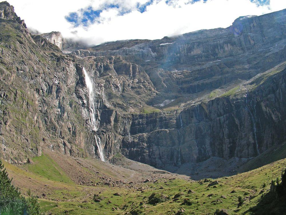Cirque de Gavarnie with waterfall, France