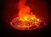 Lava lake in Mount Nyiragongo