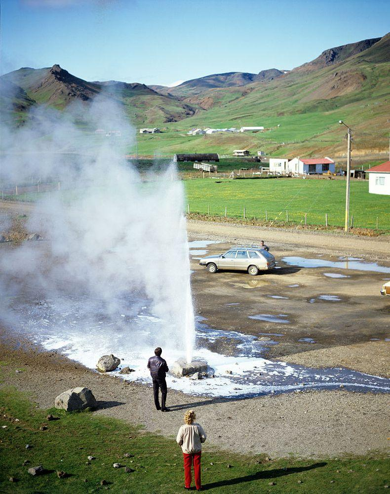 Grýla geyser in 1973 - triggered by soap