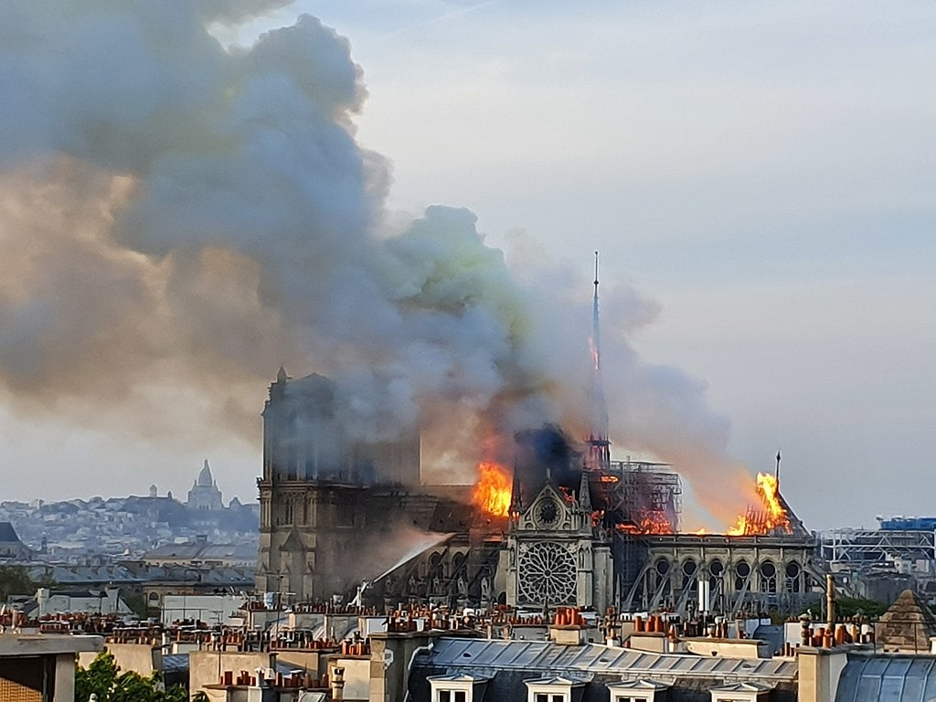 Fire in Notre Dame Cathedral, 15th April 2019
