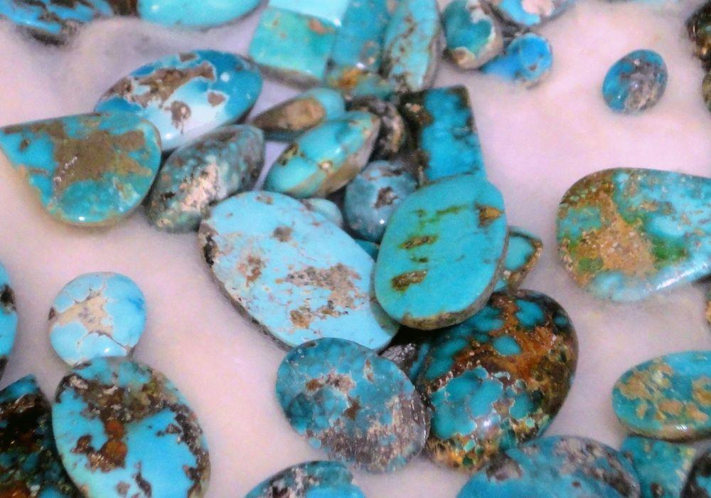 Turquoise of somewhat lower quality from Ma'dan near Nishapur