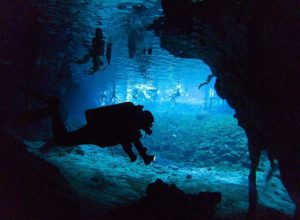 Diving in Gran Cenote, part of Sistema Sac Actún