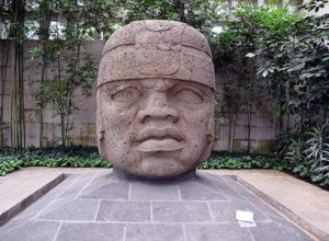 Olmec stone head from San Lorenzo No. 1.