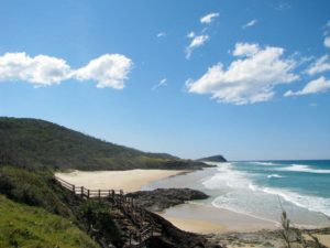 Champagne Pools in Fraser island