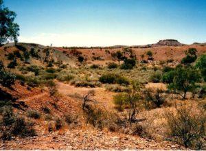 One of Henbury meteorite craters