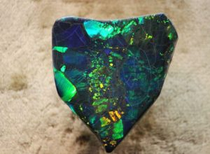 """Harlequin Prince Opal"" - exceptional black opal from Lightning Ridge Opal Fields"