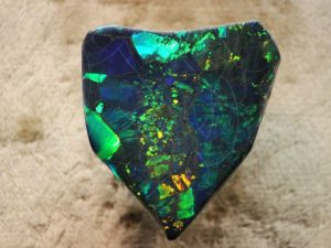 """""""Harlequin Prince Opal"""" - exceptional black opal from Lightning Ridge Opal Fields"""