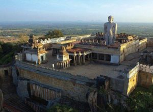 Aerial view of Gomateswara Statue