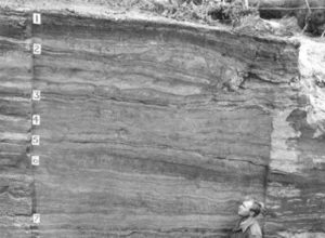 Stratigraphy in the Onion Portage site, archaeologist Douglass Anderson