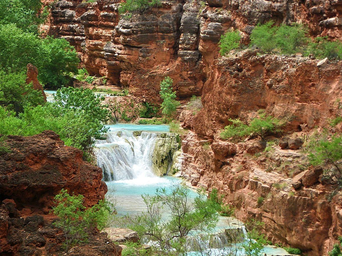 Beaver Falls in Havasu Canyon