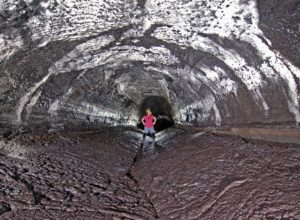 Kazumura Cave, collapsed floor of the lava bed