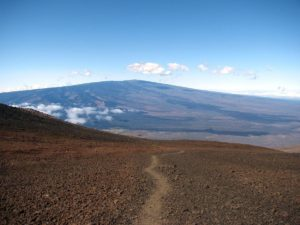 Mauna Loa from the path to the summit of Mauna Kea