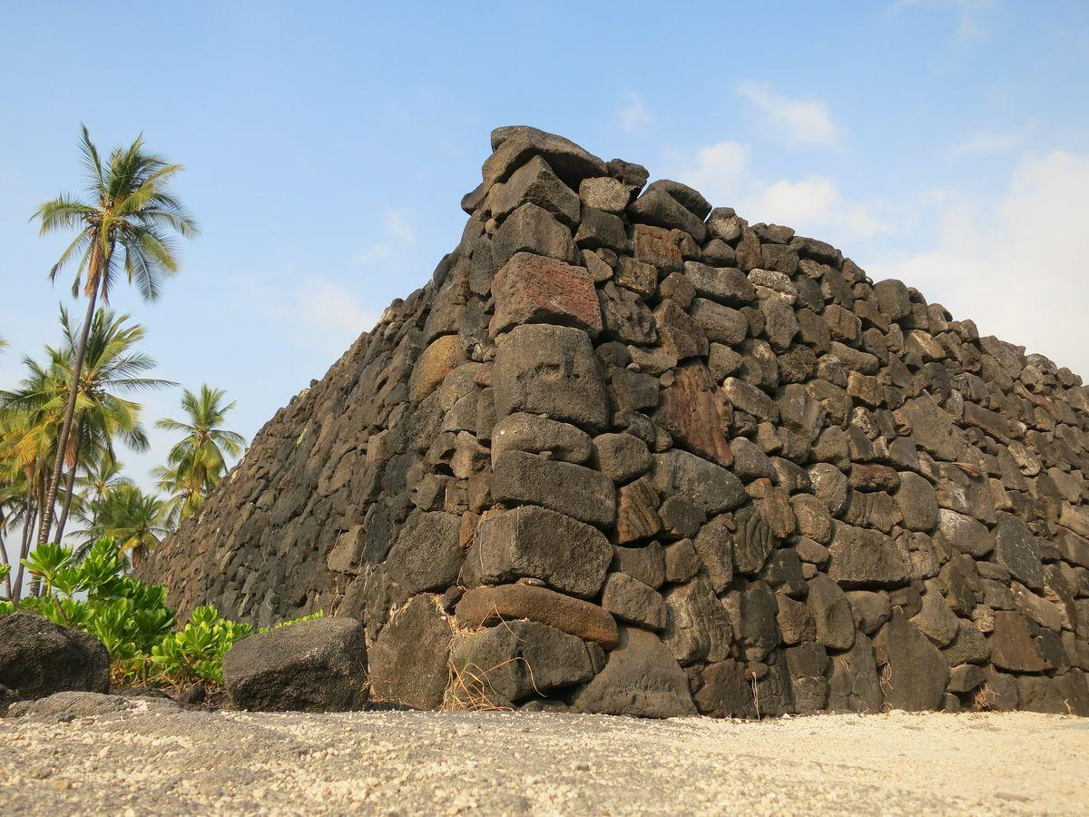 Wall at Pu`uhonua O Hōnaunau