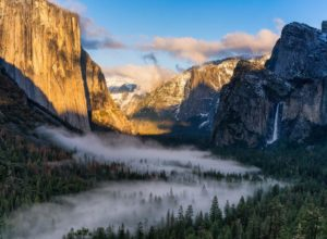 Yosemite Valley with Bridalveil Falls