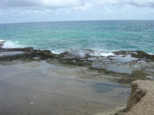 Limestone terraces at Little Bay, Barbados