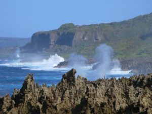 Blowholes in Christmas Island