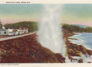 Depoe Bay Spouting Horn in 1951