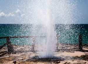 Blowhole in Mughsail Beach