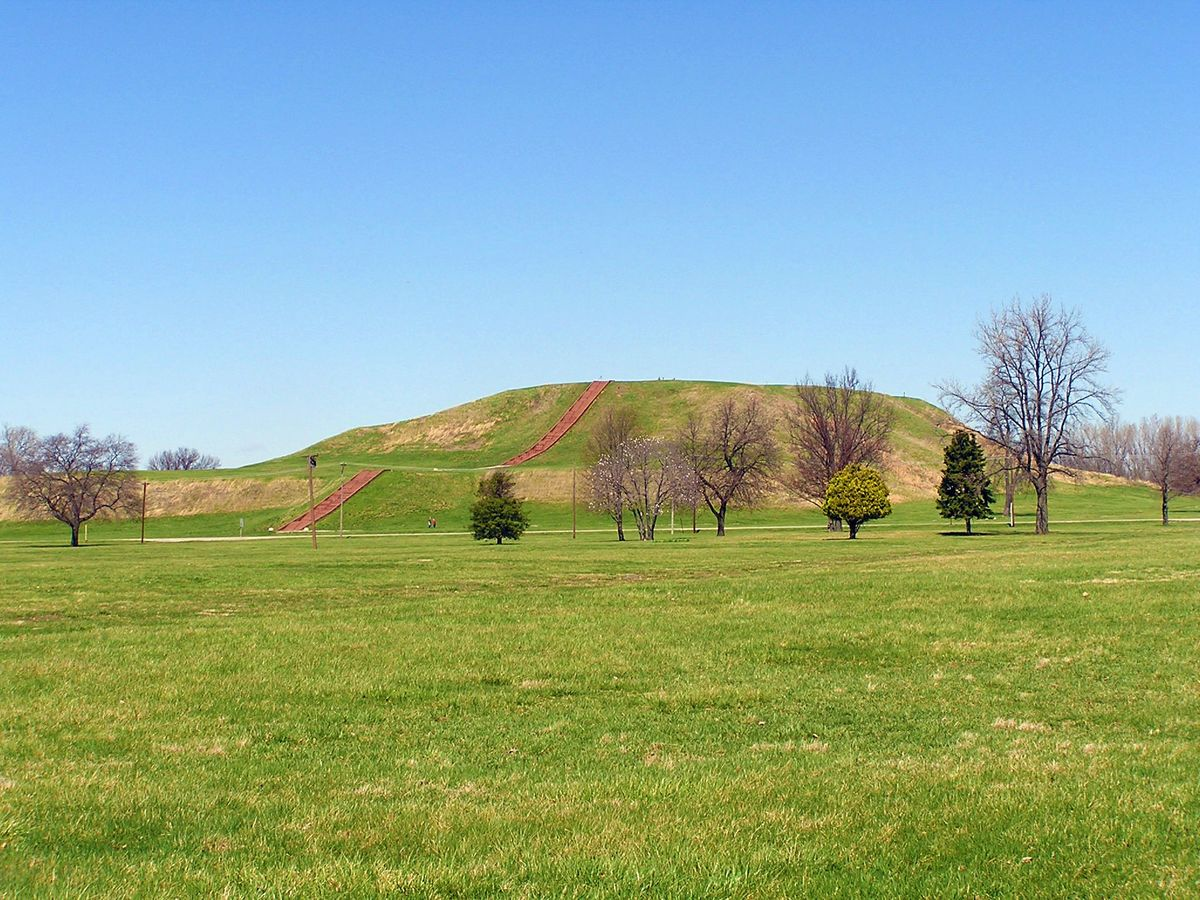 Monks Mound in Cahokia
