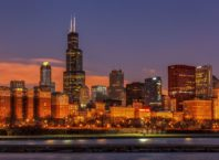 Willis Tower rises above Chicago