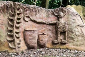Sculpture in Osun-Osogbo sacred forest