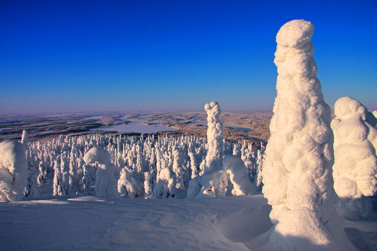 Lapland, view from Livaara mountain