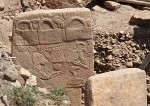 Vulture stone in Göbekli Tepe - the oldest known pictograph in the world