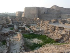 Ancient structures in Bahrain Fort
