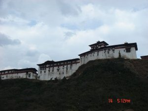 Wangdue Phodrang fortress before the fire