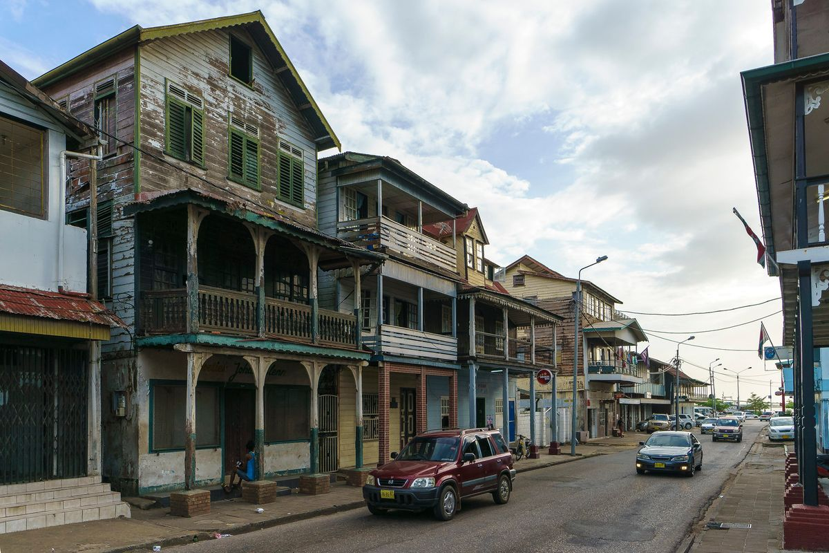 The wooden buildings in Paramaribo is one of wonders of Suriname