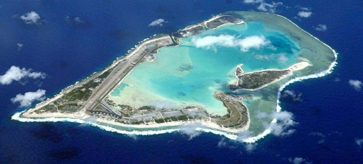 Wake Island from air in 2009